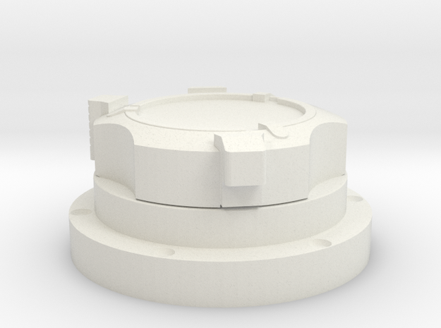 Apollo Scaled Gas Connector (Right) for Revell Man in White Natural Versatile Plastic