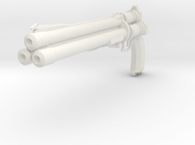 Final Fantasy - Vincent Valentine's weapon Cerberu in White Strong & Flexible