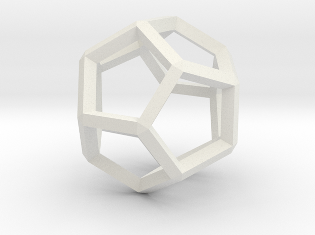 3D Honeycomb  in White Natural Versatile Plastic