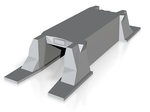 N-Scale 6x6 Single Track Box Culvert 3d printed