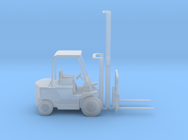 TT Scale Forklift With Positionable  Mast 1:120 in Smooth Fine Detail Plastic
