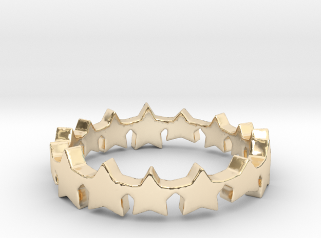 The Stars Shine Brighter | Size 5 in 14k Gold Plated Brass