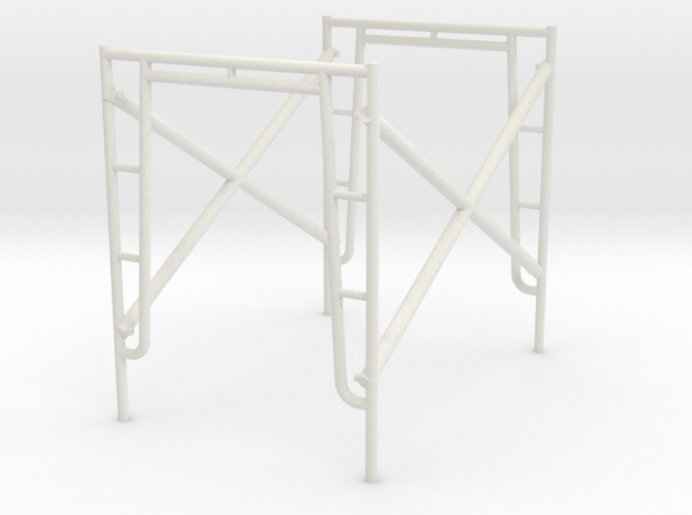 1:24 Scaffold in White Natural Versatile Plastic