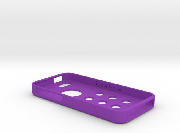 3DSurround - iPhone 5c in Purple Strong & Flexible Polished