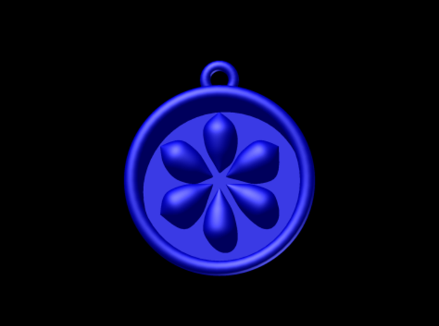 Zelda Ocarina Of Time Water Medallion 3d printed Autodesk Render