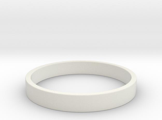 Simple and Elegant Unisex Ring | Size 9 in White Natural Versatile Plastic
