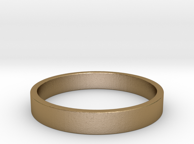 Simple and Elegant Unisex Ring | Size 7 in Polished Gold Steel