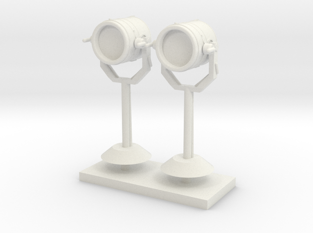 1:48 Search Light in set of 2 in White Natural Versatile Plastic