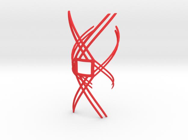 Lattice Square in Red Processed Versatile Plastic