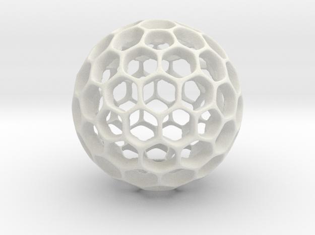 Hollow sphere in White Natural Versatile Plastic