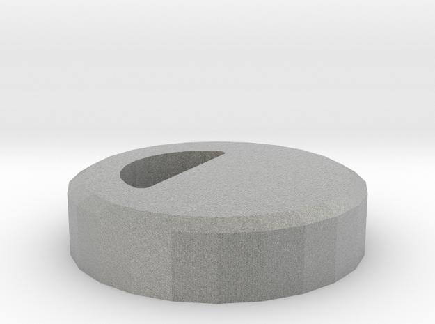 Toilet Flush System Niagara Button Hardstop in Metallic Plastic