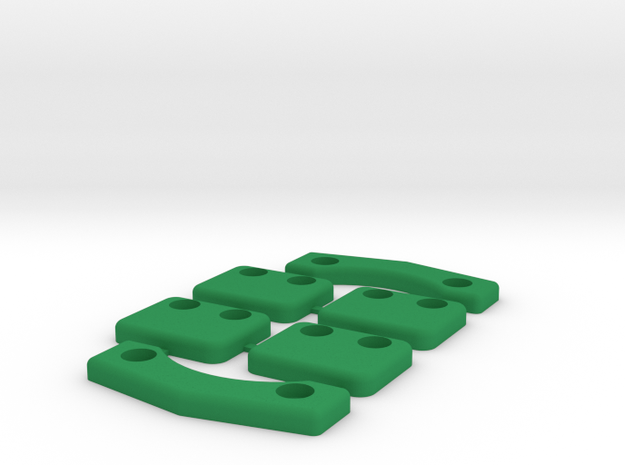 Landing Skids for ZMR250 4mm in Green Processed Versatile Plastic