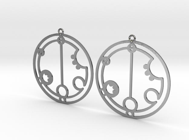 Gabriella - Earrings - Series 1 in Polished Silver