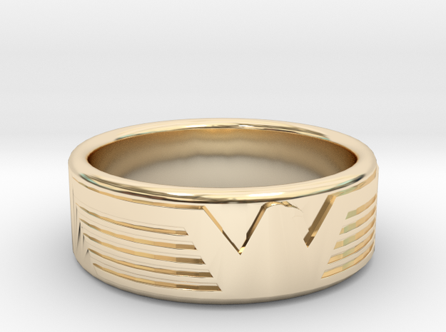 Eagle ring in 14k Gold Plated Brass