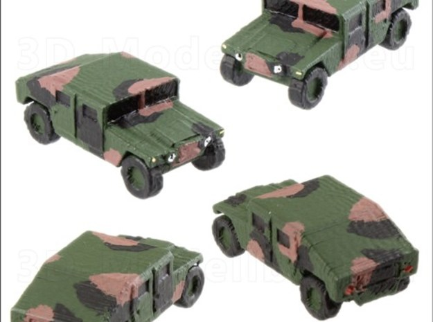 1/220 US Army M1025 Humvee HMMWV Hummer H1 in White Natural Versatile Plastic