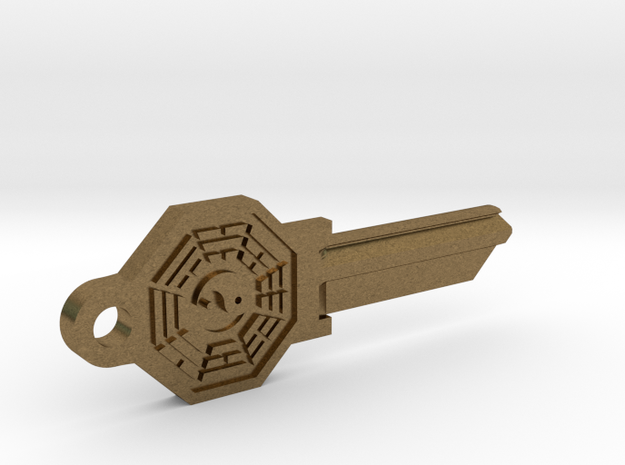 Bagua House Key Blank - SC1/68 in Natural Bronze