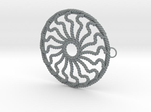 Hub Cap Rope Wheel 3d printed