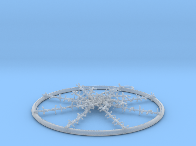 Hubcap Barbed Wire 3d printed