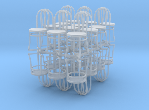 Bistro / Cafe Chair 1/32 24 pack in Frosted Ultra Detail