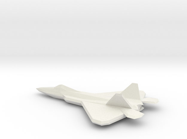 F22 (low-poly) in White Strong & Flexible