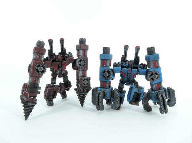 Thugger Slammers 3d printed painted models.