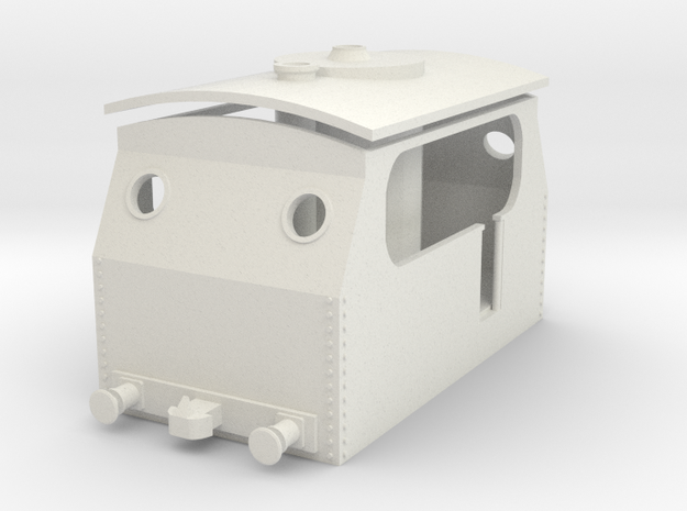 """P&H Tramway """"Victoria"""" - With Buffers in White Natural Versatile Plastic"""