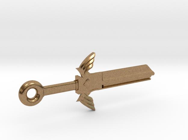 Zelda Master Sword House Key Blank - KW11/97 in Raw Brass