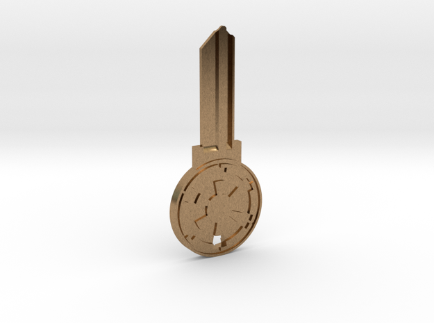 Empire House Key Blank - KW1/66 in Natural Brass