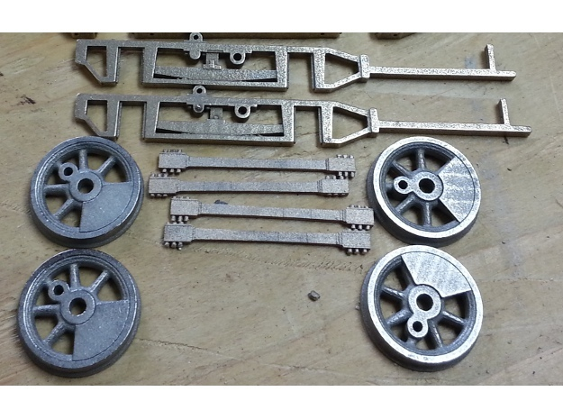 1:20.32 scale connecting rods in Stainless Steel