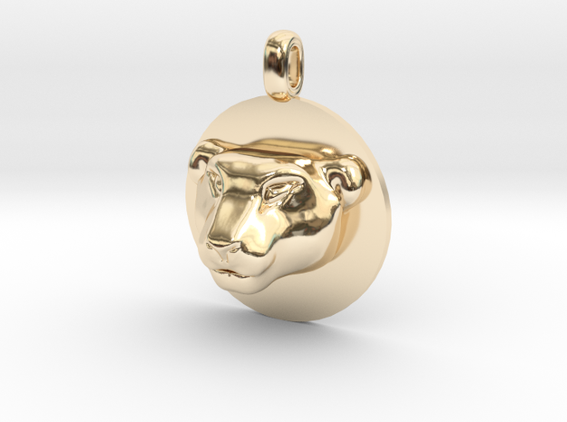 Tiger Head Jewelry Pendant Necklace in 14K Yellow Gold