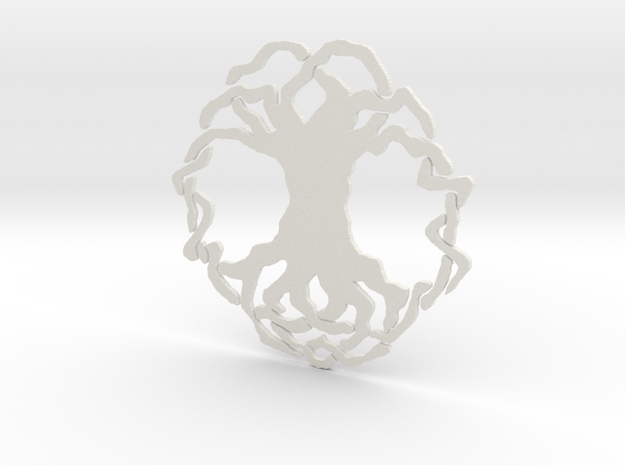 Tree of Life Simple Tile in White Strong & Flexible
