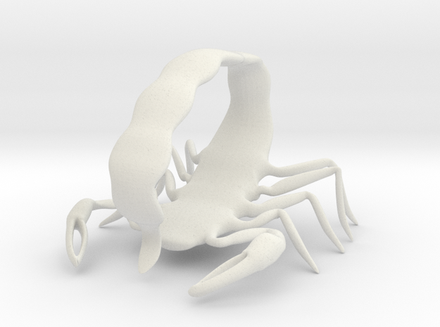 Scorpion14 in White Natural Versatile Plastic