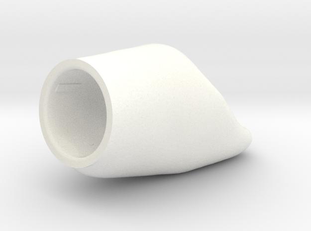 X8 - Diente NPSin Corte-1 in White Processed Versatile Plastic