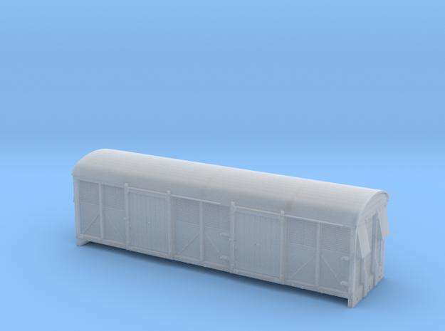 LMS 6wheel Milk Van body solid sides - 4mm scale 3d printed