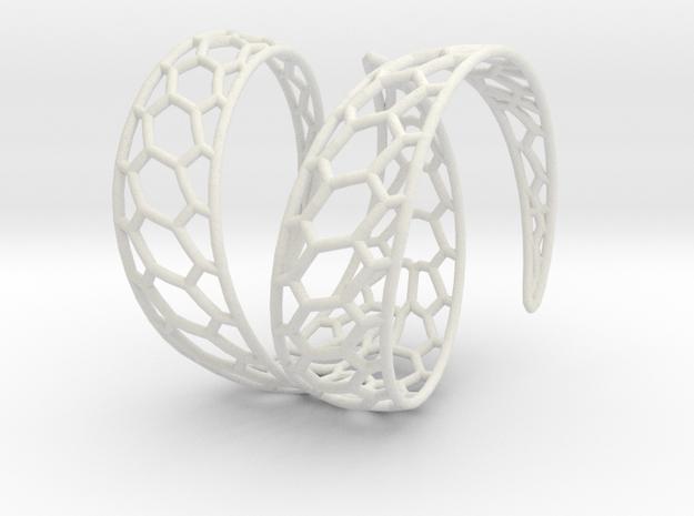 Swirly in White Natural Versatile Plastic