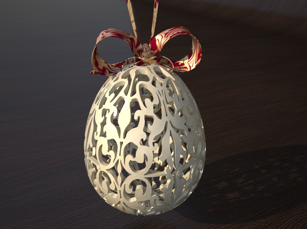 Oriental Easter Egg 3d printed example rendering of the egg