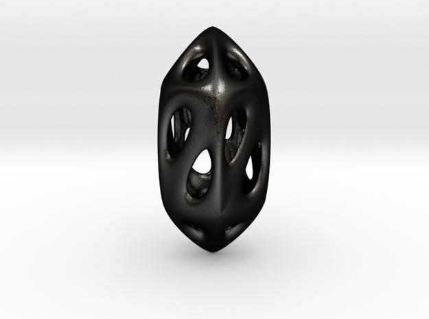 Geo Pendant in Matte Black Steel