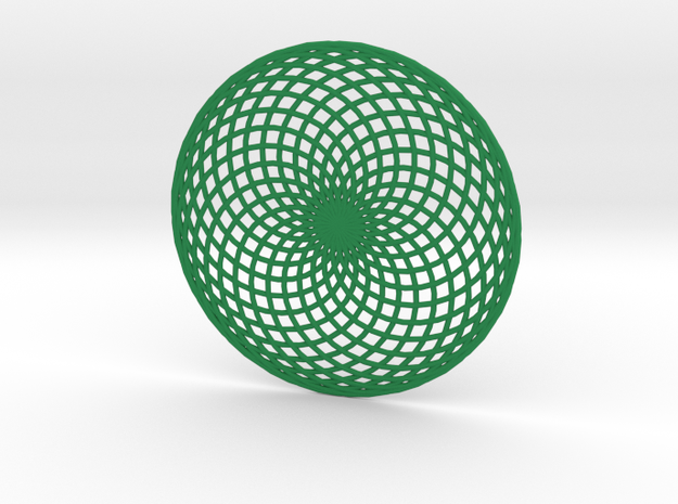 Lissajous Circle in Green Processed Versatile Plastic