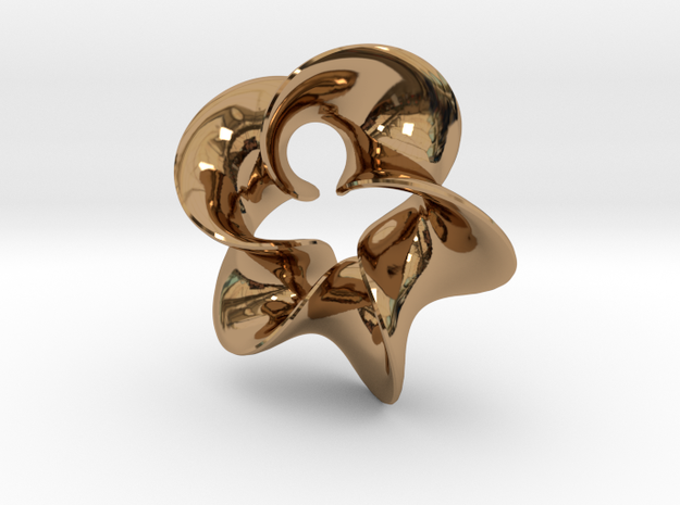Star Flower 2 in Polished Brass