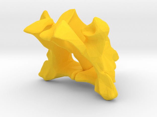 Palatines and Vomer Bone Ornament in Yellow Strong & Flexible Polished
