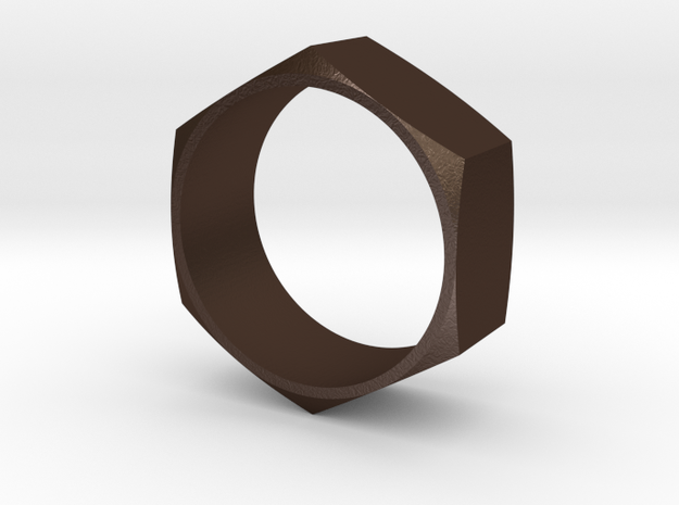 Hex Nut Maker Ring (Size 10.5- 20mm) in Matte Bronze Steel