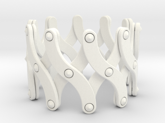 Expandable Bracelet SX in White Processed Versatile Plastic