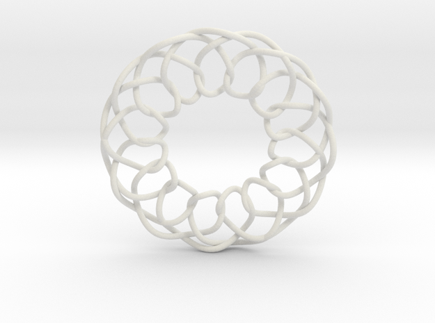 Intertwined in White Natural Versatile Plastic