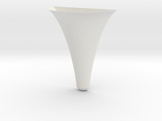 (wall Mount) Flower Yoke in White Natural Versatile Plastic