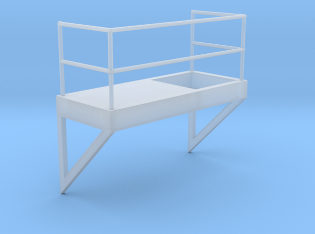 'HO Scale' - 8' Wide - Ladder Platform Right in Smooth Fine Detail Plastic