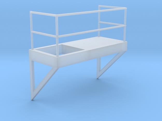 'HO Scale' - 8' Wide - Ladder Platform Left in Smooth Fine Detail Plastic