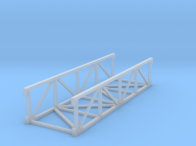 'HO Scale' - 20' Conveyor Bridge Section in Smooth Fine Detail Plastic