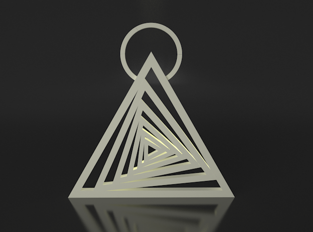 Spiraling Triangle Pendant 3d printed