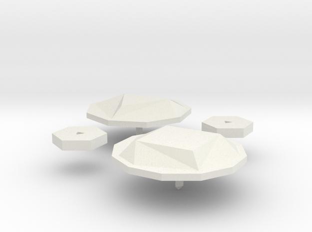 garnet.badge in White Natural Versatile Plastic