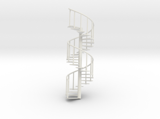Staircase big: 245mm x 80mm in White Natural Versatile Plastic